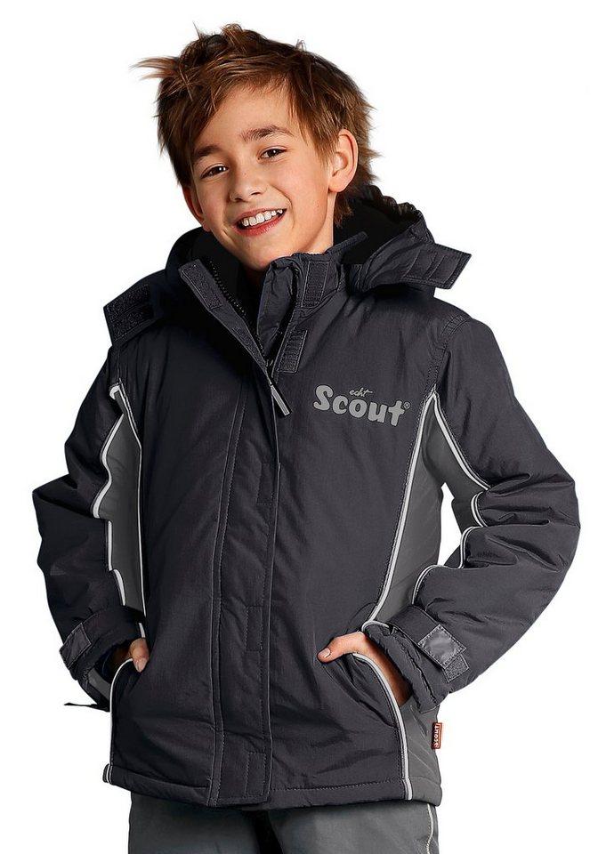 Scout Schneejacke mit reflektierenden Details in schwarz-grau