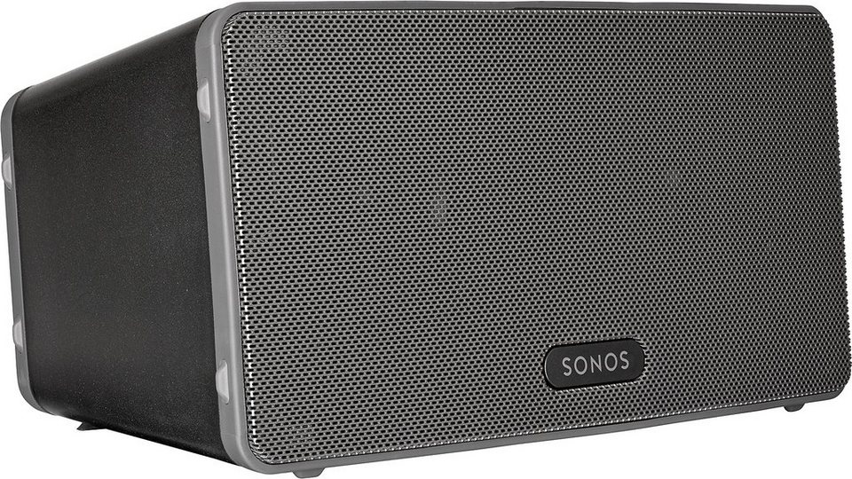 Sonos PLAY:3 - Der vielseitige Multiroom Lautsprecher (Smart Speaker) für Wireless Music Streaming in schwarz