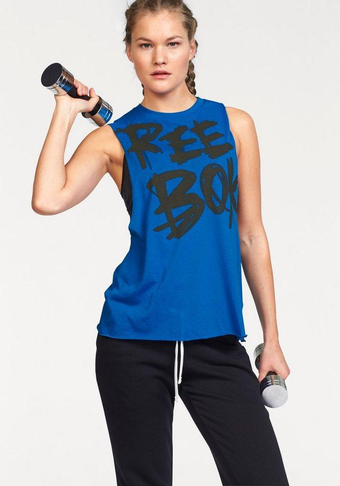 Reebok Tanktop »DANCE REEBOK MUSCLE TEE« in blau