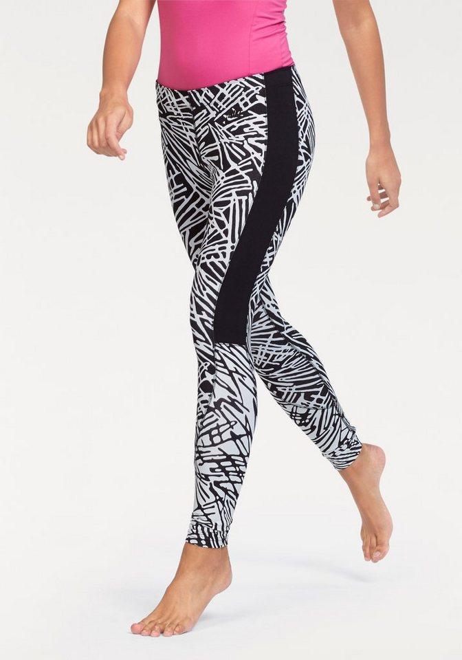 Nike LEG-A-SEE-AOP Leggings in Schwarz-Weiß