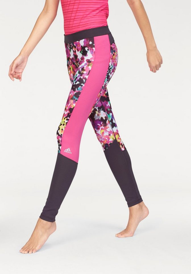 adidas Performance TECHFIT LONG TIGHT FLORAL PRINT Funktionstights in Bunt