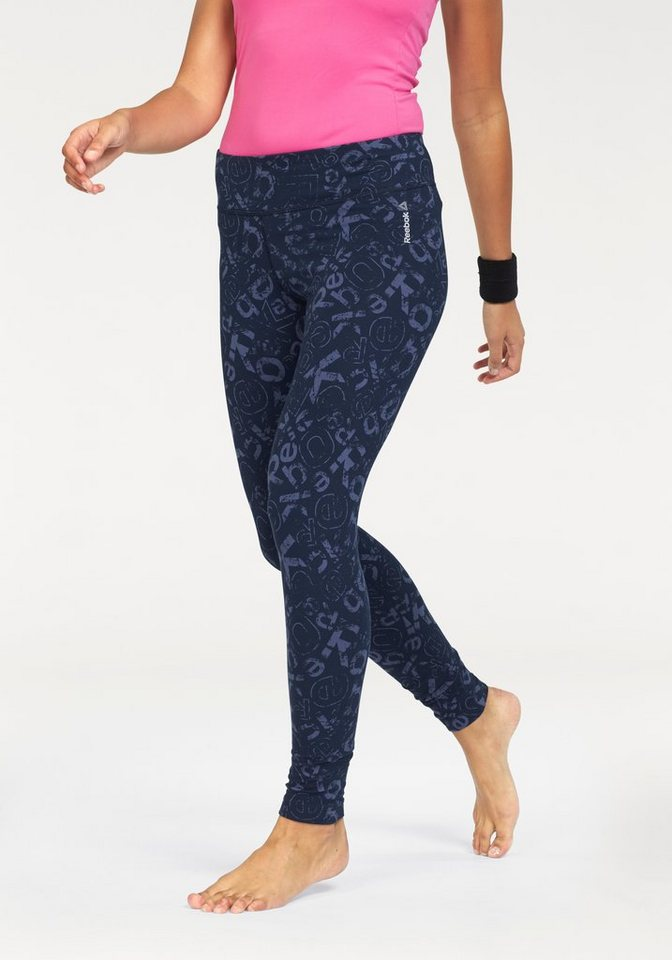 Reebok Leggings »ELEMENTS ALL OVER PRINT LEGGINGS« in blau