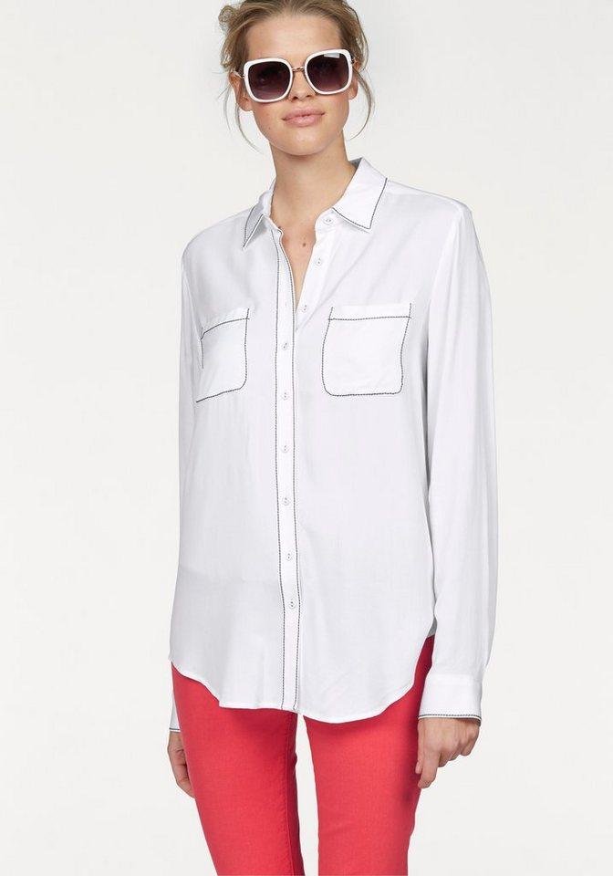 Tommy Hilfiger Hemdbluse »Nicola« in weiß