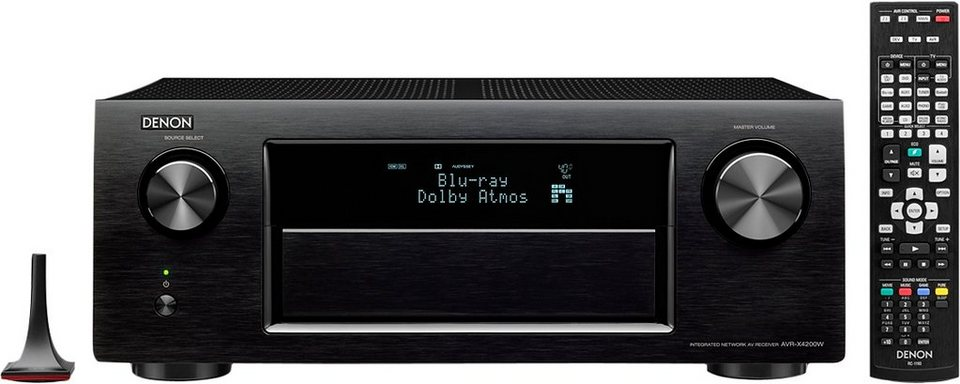 Denon AVR-X4200 7.2 AV-Receiver (3D, Spotify Connect, Airplay, WLAN, Bluetooth) in schwarz