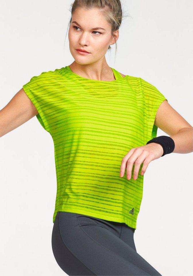adidas Performance LIGHTWEIGHT TEE T-Shirt in Neongrün