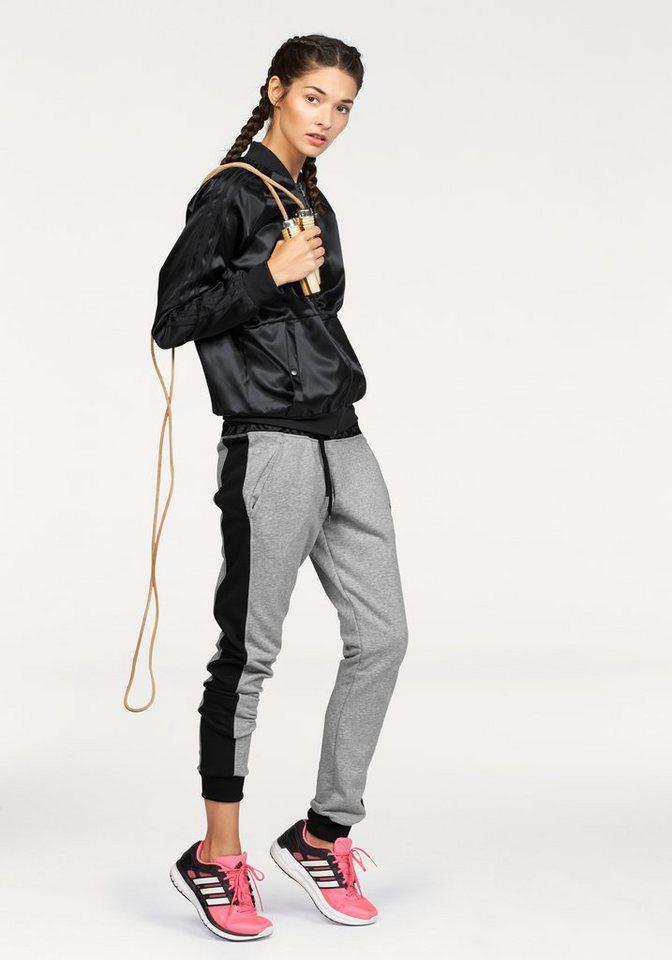 adidas Performance YOUNG WOVEN TRACKSUIT Trainingsanzug in Schwarz-Grau