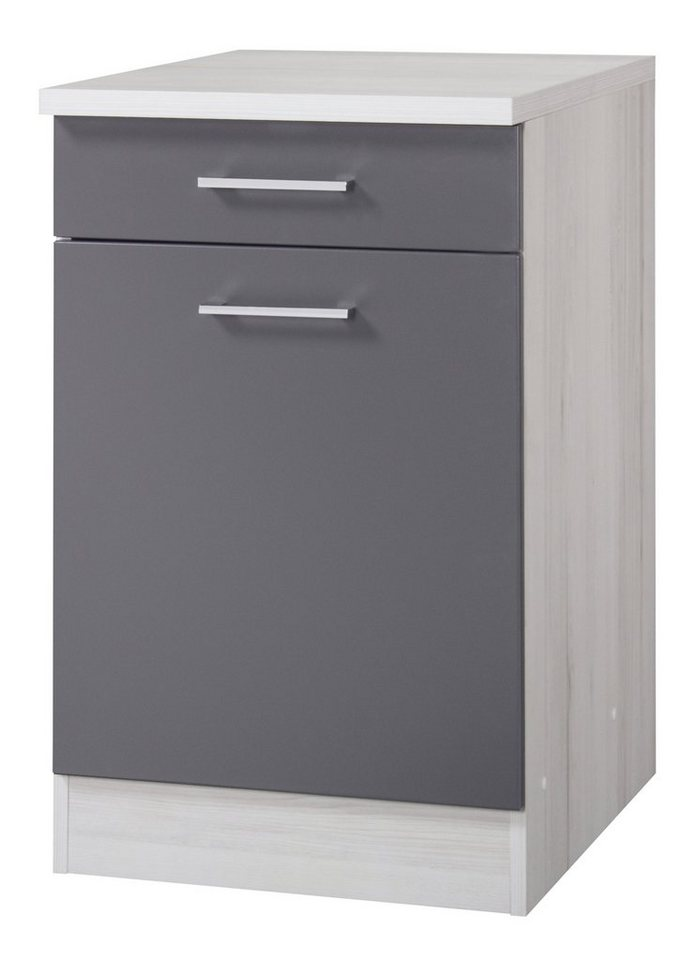 Küchenunterschrank »Cannes«, Breite 50 cm in basaltgrau