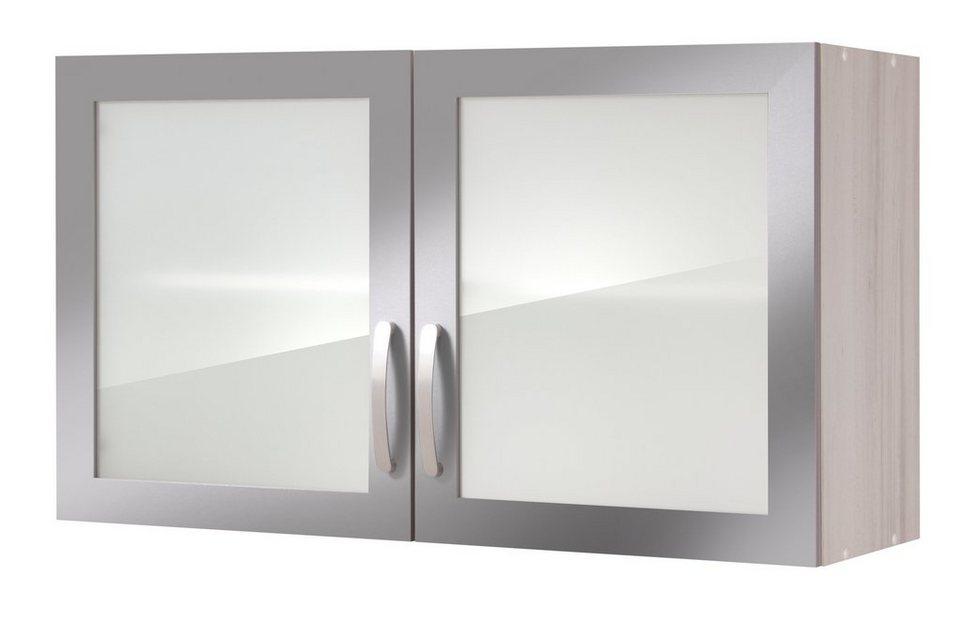Held Möbel Küchenhängeschrank »Calais«, Breite 100 cm in anthrazit/polareichefarben