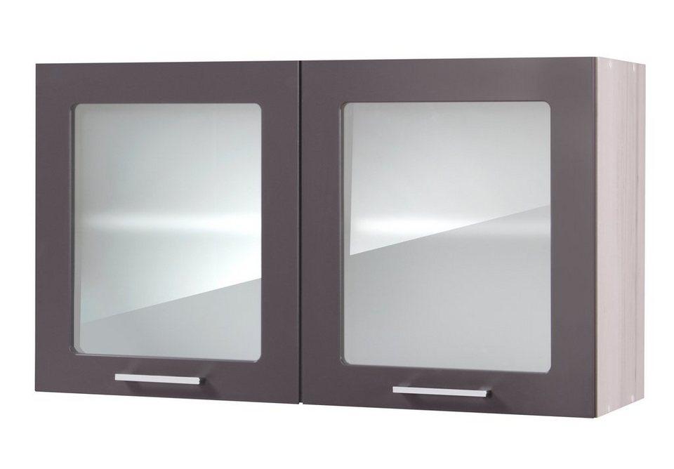 Küchenhängeschrank »Cannes«, Breite 100 cm in basaltgrau