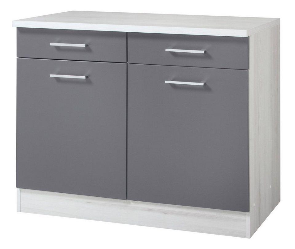 Held Möbel Küchenunterschrank »Cannes«, Breite 100 cm in basaltgrau