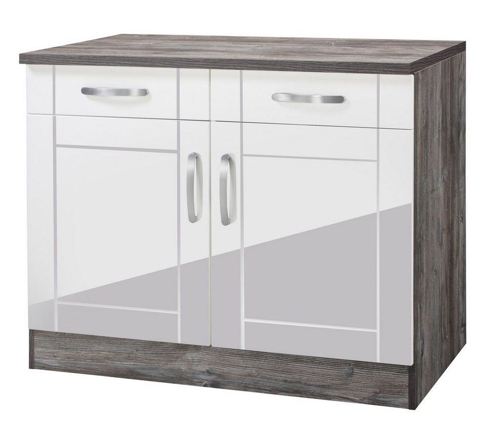 held m bel k chenunterschrank calais breite 100 cm online kaufen otto. Black Bedroom Furniture Sets. Home Design Ideas