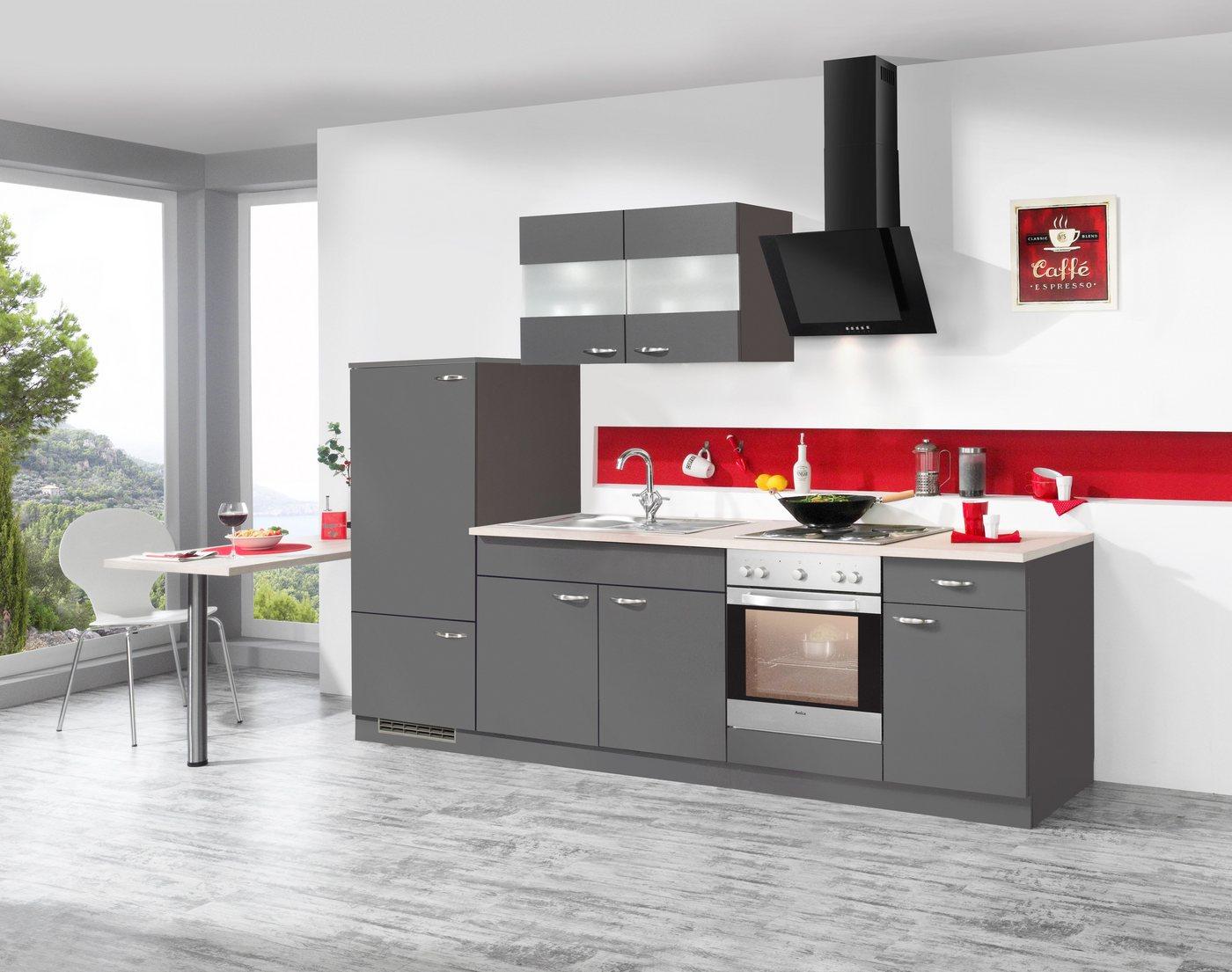 Küchenzeile mit E-Geräten »Dakota«, Breite 270 cm