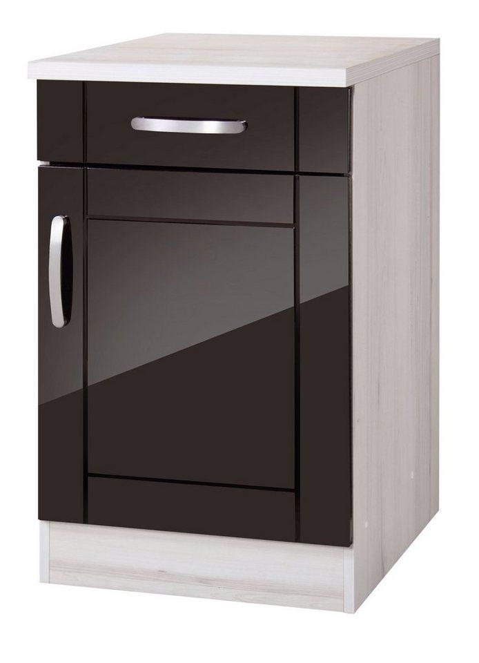 Küchenunterschrank »Calais«, Breite 50cm in schwarz/polareichefarben