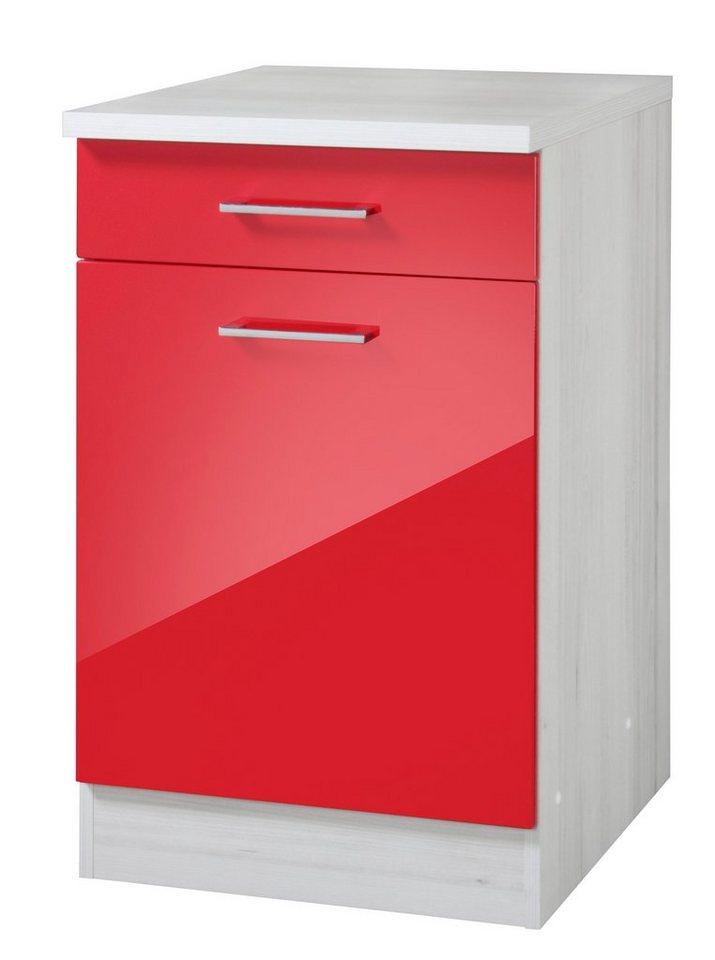 Küchenunterschrank »Le Mans«, Breite 50 cm in rot