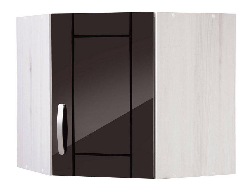 Eck-Hängeschrank »Calais«, Breite 60 x 60 cm in schwarz/polareichefarben