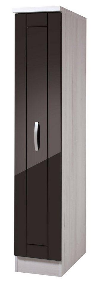 Apothekerschrank »Calais«, Höhe 165 cm in schwarz/polareichefarben