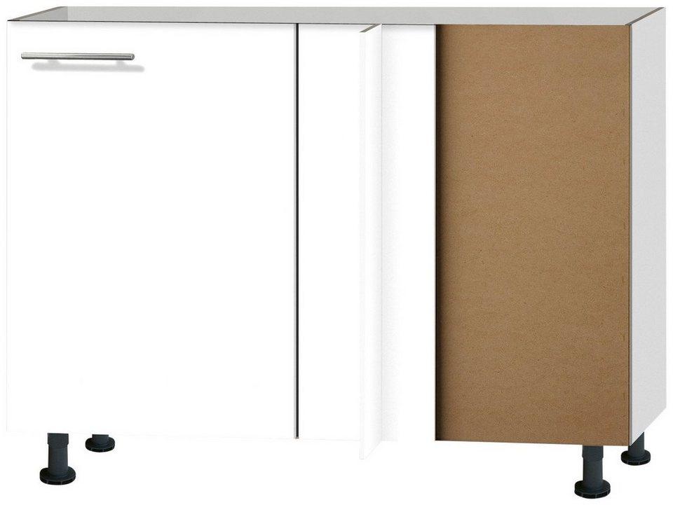 Eckunterschrank »Michel«, Breite 100 cm in weiß