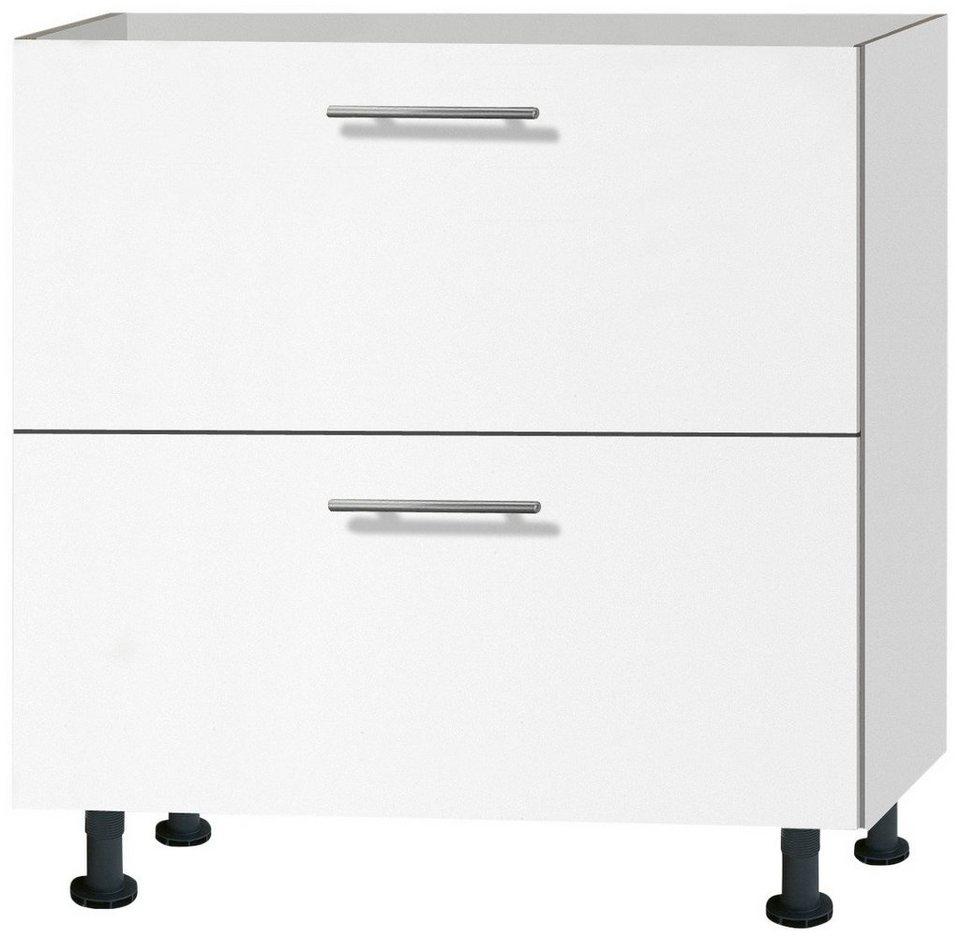 Küchenunterschrank »Michel«, Breite 80 cm in weiß
