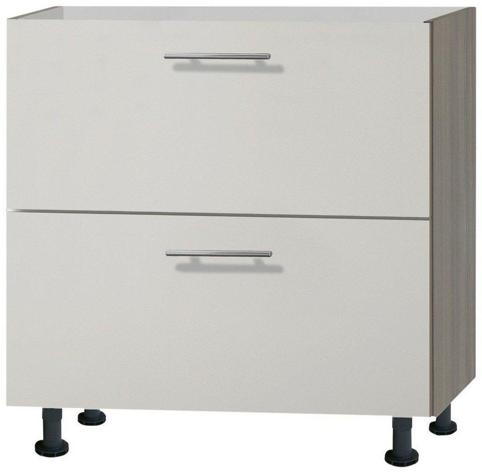 Küchenunterschrank »Finn«, Breite 80 cm in sandfarben