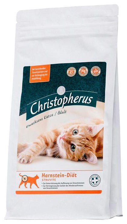 Set: Katzentrockenfutter »Christopherus Harnstein-Diät Struvite«, 2 Beutel á 1 kg