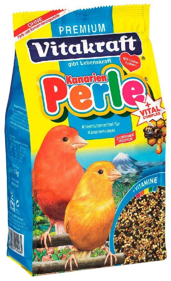Vogelfutter »Vitakraft Kanarienperle 4 x 1 Kg« in braun
