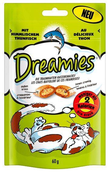 Dreamies Set: Katzensnack »Thunfisch«, 12 Beutel á 60 g