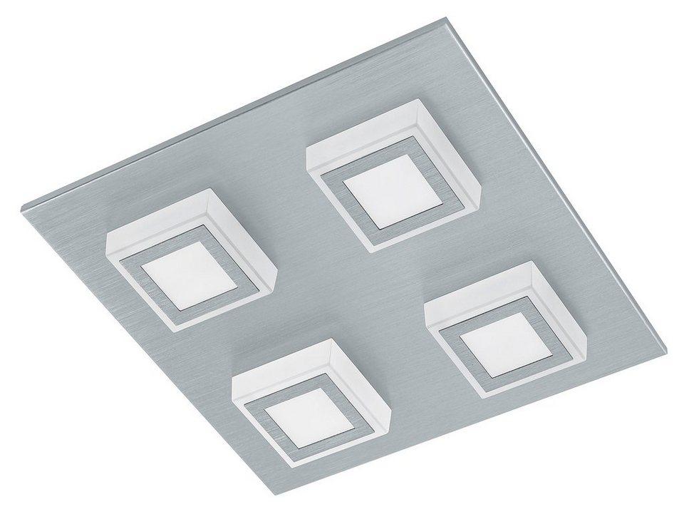Eglo LED-Deckenleuchte, 4flg., »MASIANO« in Aluminium gebürstet