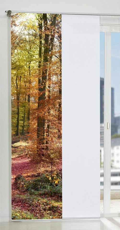 Schiebegardine, Home Wohnideen, »Udine« (1 Stück mit Zubehör) in natur