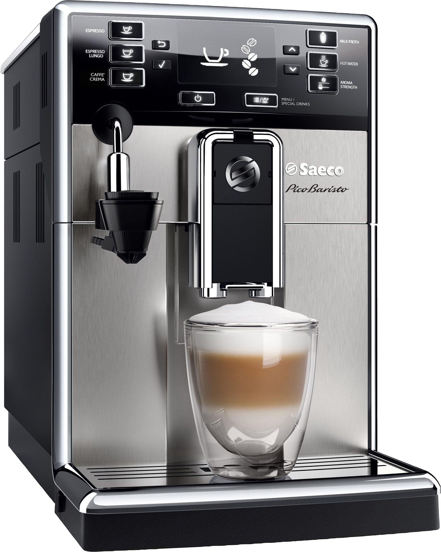 Saeco Kaffeevollautomat HD8924/01 PicoBaristo mit Cappuccinatore, edelstahl silber