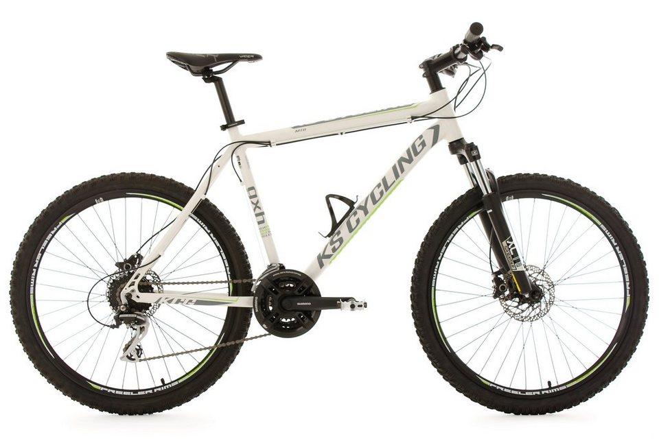 KS Cycling Hardtail-Mountainbike Herren, 26 Zoll, weiß, 24 Gang-Kettenschaltung, »GXH« in weiß