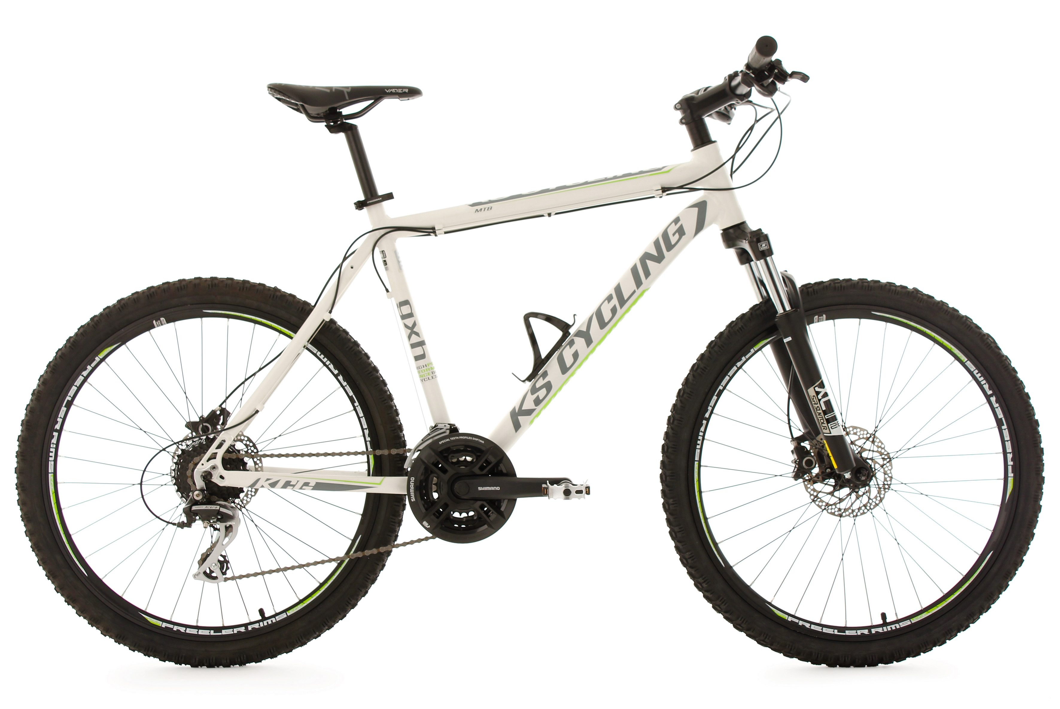 KS Cycling Hardtail-Mountainbike Herren, 26 Zoll, weiß, 24 Gang-Kettenschaltung, »GXH«