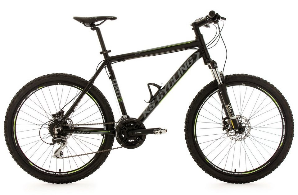 KS Cycling Hardtail-Mountainbike Herren, 26 Zoll, schwarz, 24 Gang-Kettenschaltung, »GXH« in schwarz