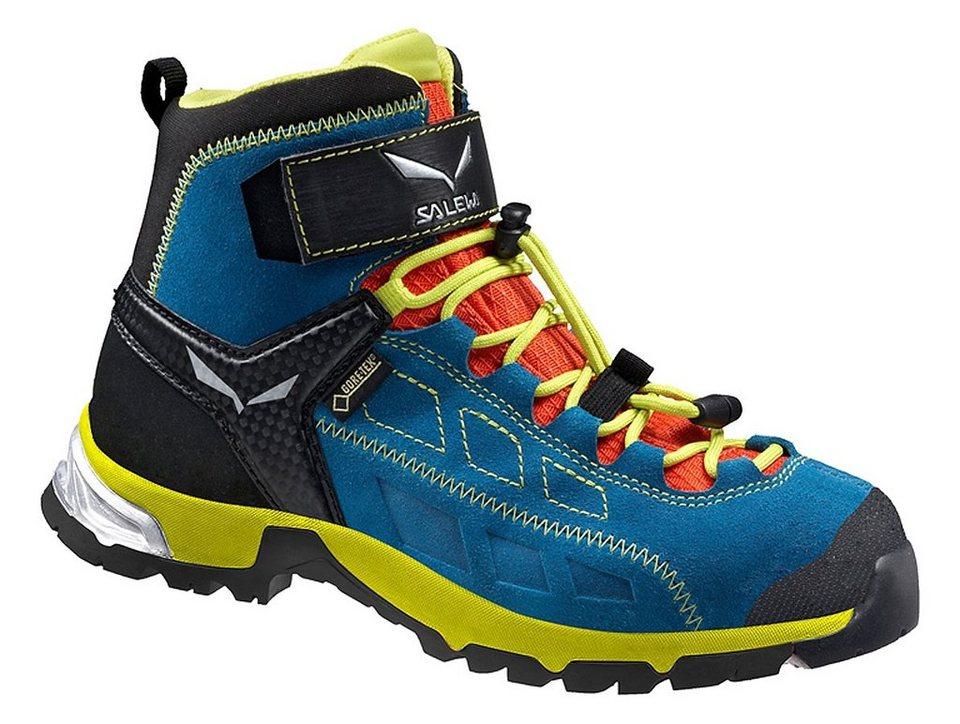 Salewa Kletterschuh »Alp Player Mid GTX Hiking Shoes Junior« in blau