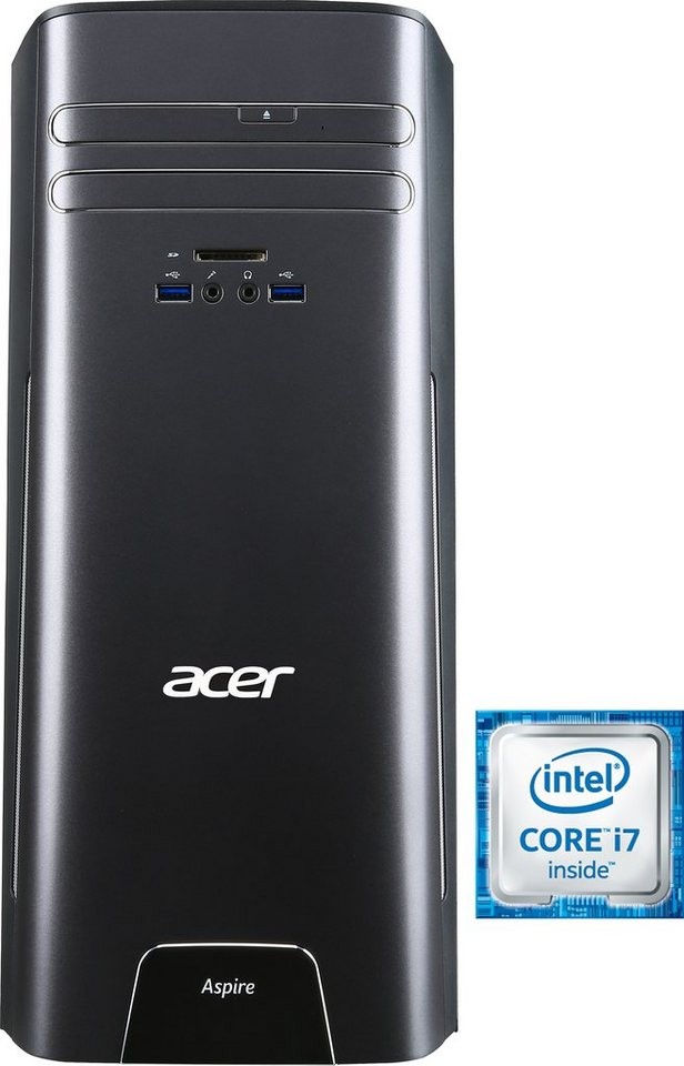 Acer Aspire T3-710 PC, Intel® Core™ i7, 8192 MB DDR3-RAM, 1000 GB Speicher in schwarz