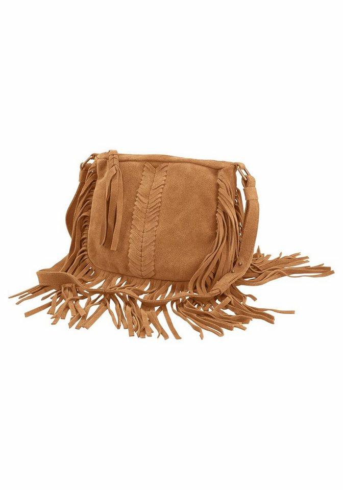 Pepe Jeans Umhängetasche »Bell Bag« mit Fransen in camelfarben