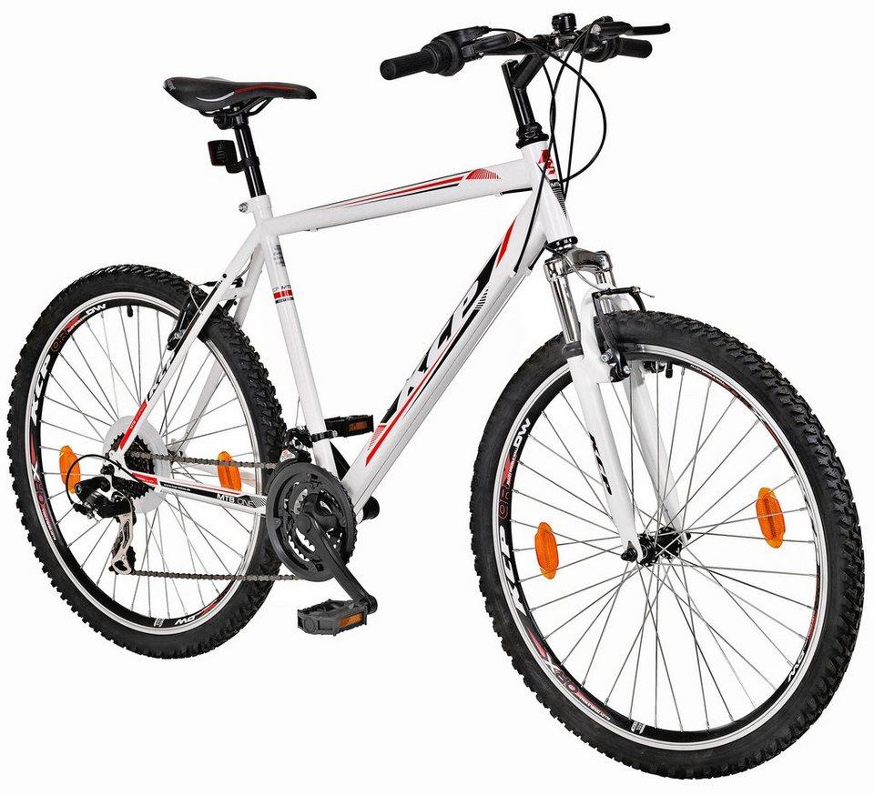 Mountainbike »ONE«, 28 Zoll, SHIMANO 21 Gang, Federgabel in weiß