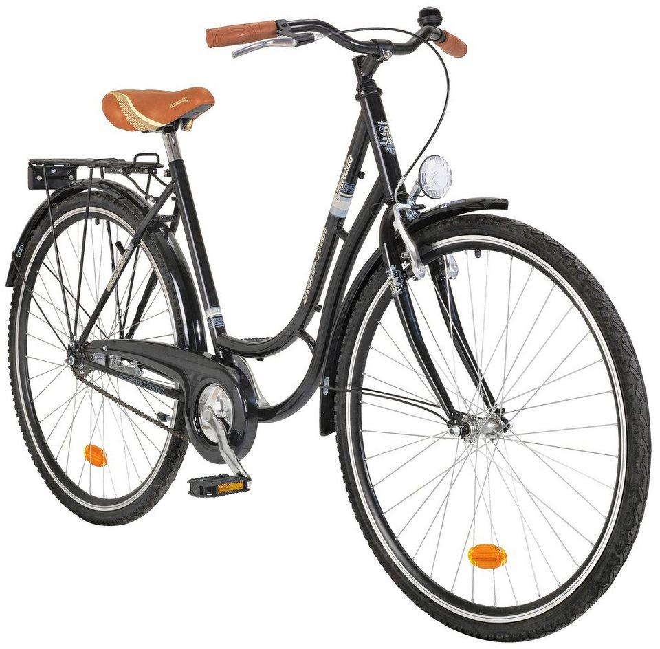Onux Citybike (Damen) »Californis«, 71,12 cm (28 Zoll) in schwarz