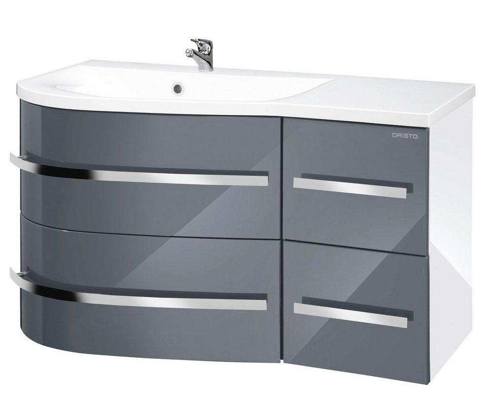 Waschtisch »Opal«, Breite 90 cm, (2-tlg.) in grau/weiß