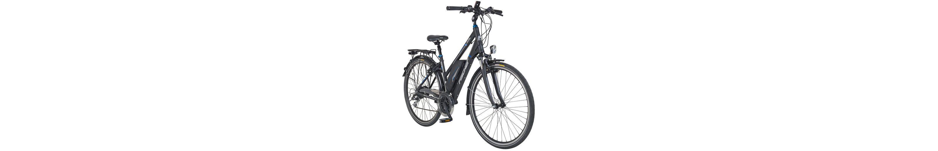 E-Bike Trekking Damen »ETD1616«, 28 Zoll, 24 Gang, Heckmotor, 418 Wh