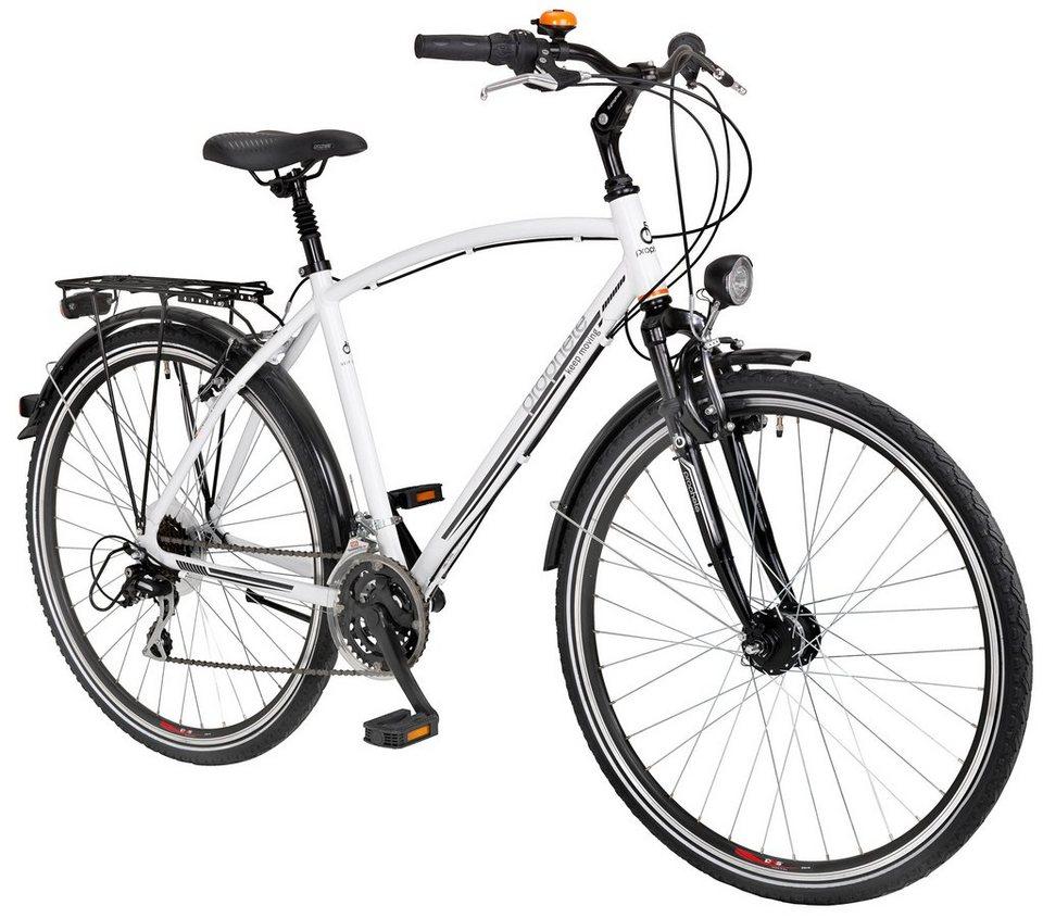 Trekkingrad (Herren) »ENTDECKER 600, 28 Zoll«, SHIMANO Acera 24 Gang, Inkl. Doppelpacktasche in weiß