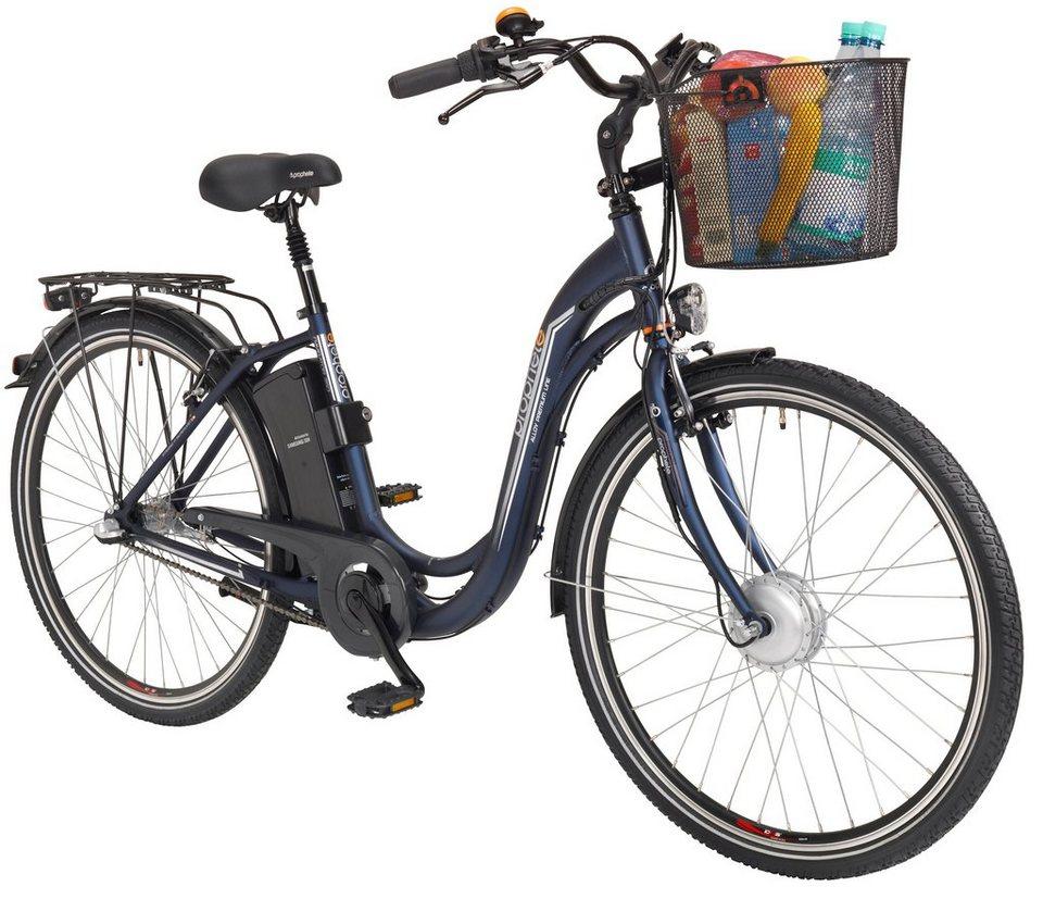 E-Bike City Damen »Navigator«, 26/28 Zoll, 3 Gang, Frontmotor, 250 Wh in blau