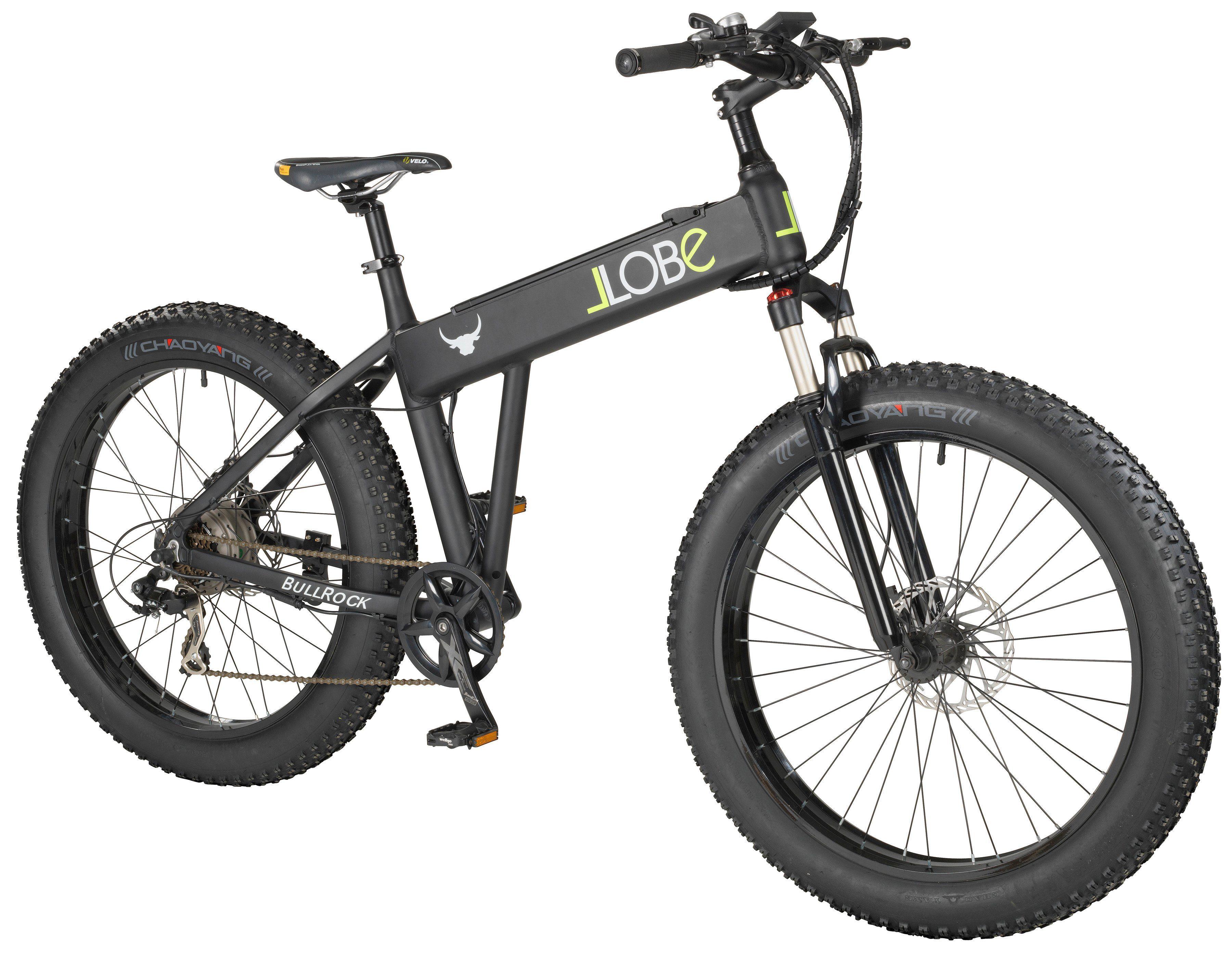Llobe E-Bike Mountainbike »Bull«, 26 Zoll, 7 Gang, Heckmotor, 374 Wh