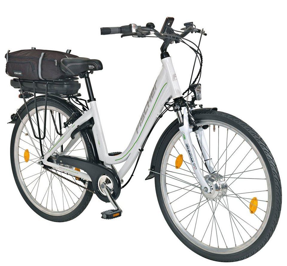 E-Bike City Damen »Ecoline ECU1602«, 28 Zoll, 7 Gang, Frontmotor, 317 Wh in weiß