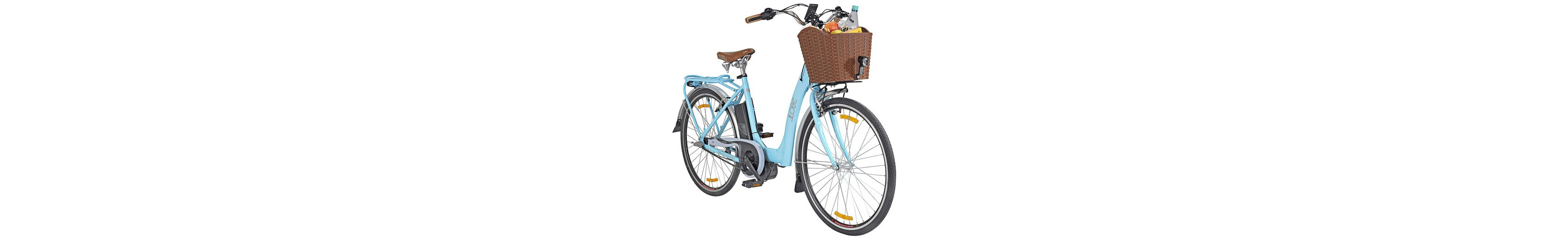 E-Bike City Damen »Blue Glider«, 28 Zoll, 3 Gang, Mittelmotor, 374 Wh