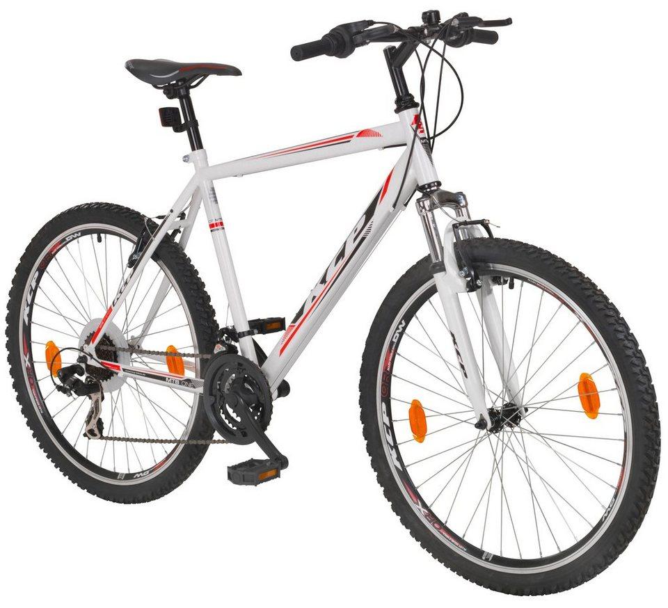 Mountainbike »ONE«, 26 Zoll, 21 Gang, V-Bremsen in weiß