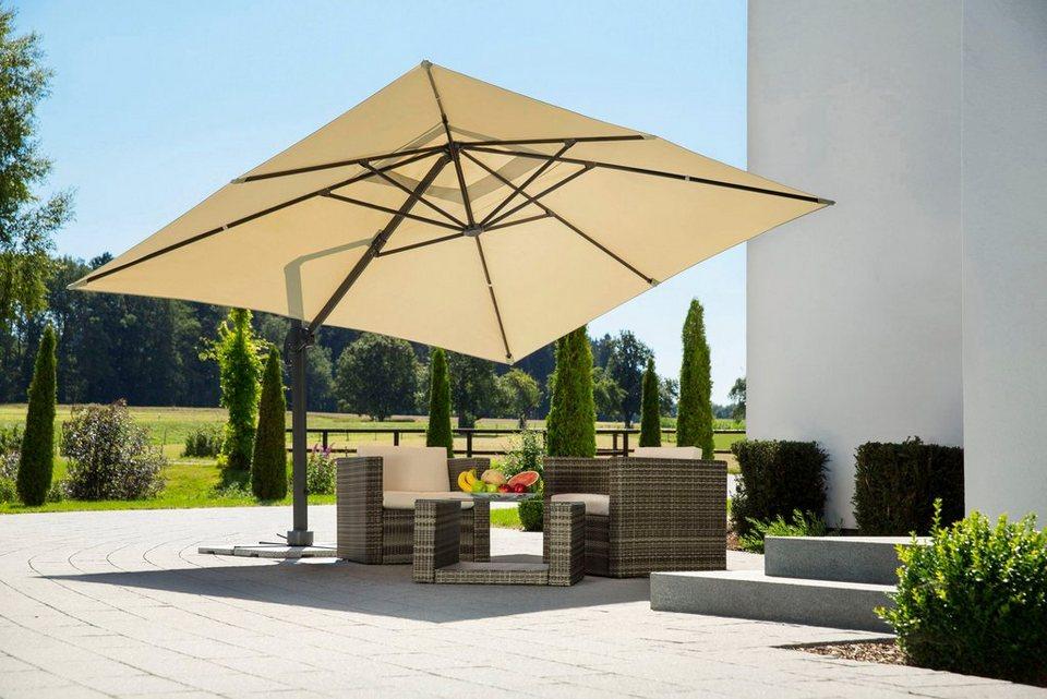 schneider schirme sonnenschirm rhodos grande 400x300 cm ohne wegeplatten online kaufen otto. Black Bedroom Furniture Sets. Home Design Ideas