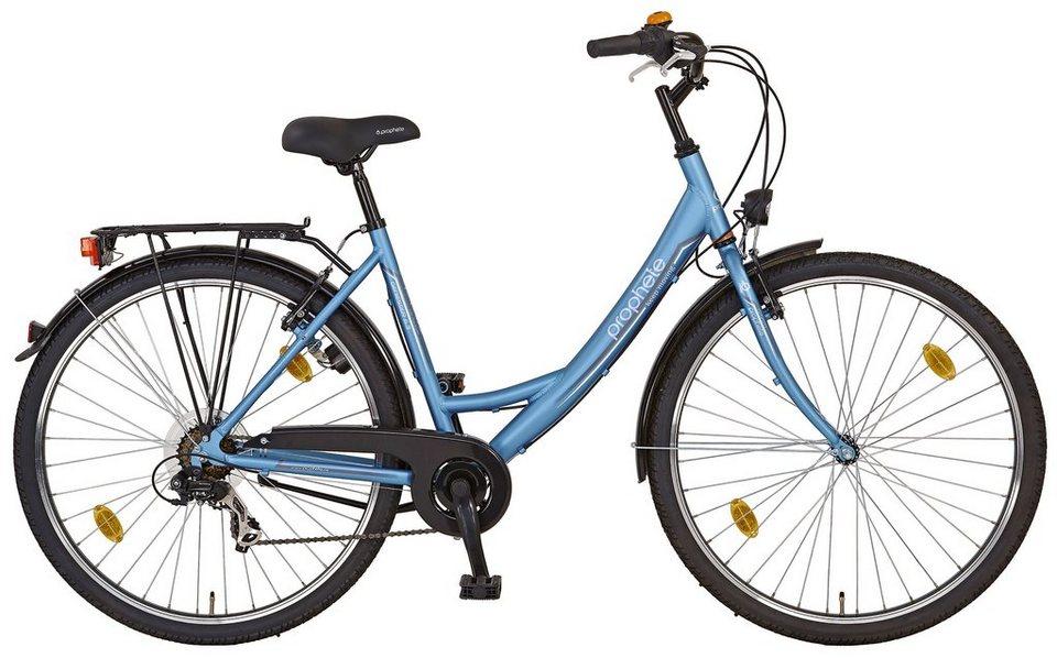 Citybike (Damen) »GENIESSER 6.3, 26 Zoll / 28 Zoll«, SHIMANO 7 Gang, Aluminiumrahmen in blau