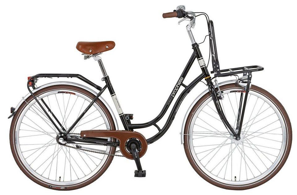 Citybike »GENIESSER Cargo, 71,12 cm (28 Zoll)« in schwarz