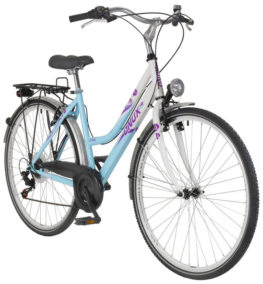 "Onux Citybike (Damen) »""Holiday"", 66,04 cm (26 Zoll), 71,12 cm (28 Zoll)« in blau"