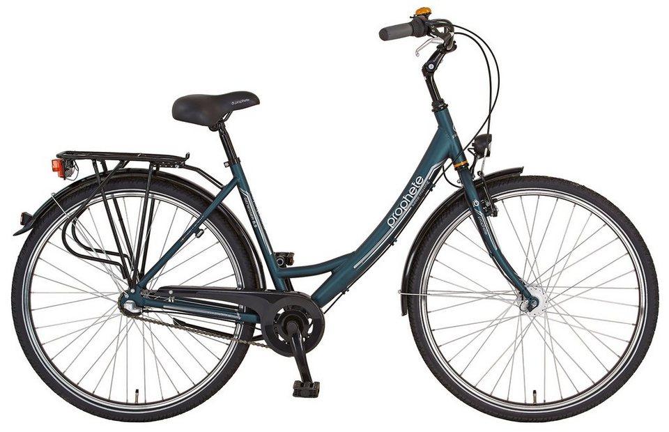 Citybike (Damen) »GENIESSER 6.5, 26 Zoll / 28 Zoll«, SHIMANO Nexus 3 Gang, SHIMANO Nabendynamo in grün
